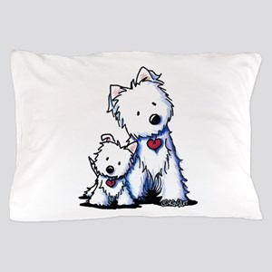 KiniArt Westie Buds Pillow Case